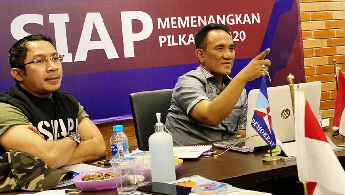 Ketua Bappilu Demokrat Andi Arief dan Sekretaris Bappilu Kamhar Lakumani