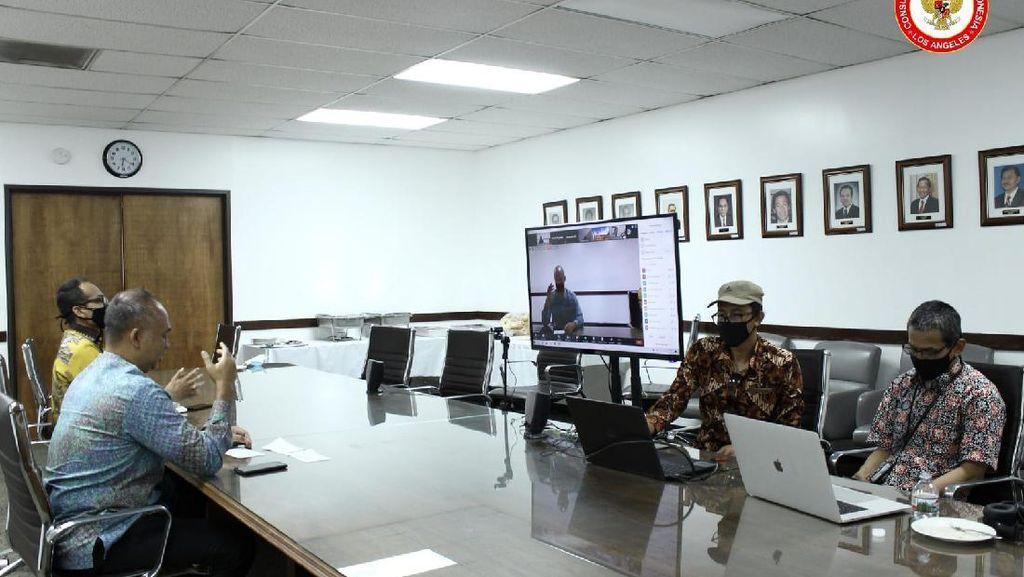 Gelar Pertemuan Virtual, KJRI Los Angeles Imbau WNI Terapkan Protokol Kesehatan