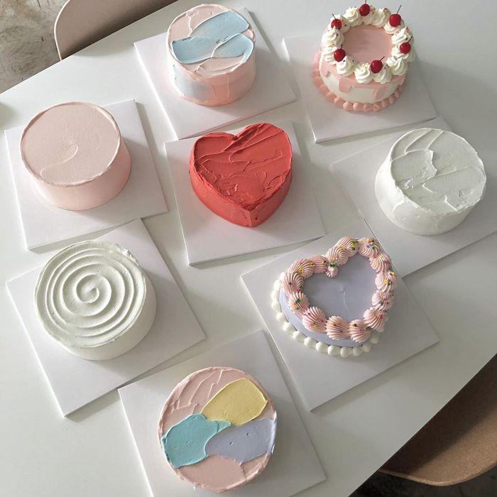 kue korea dengan tampilan cantik dan simpel