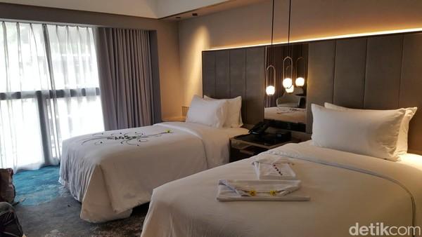 Sari Pacifik Jakarta memastikan kamar yang diinapi tamu sangat higenis dan telah disemprotkan disenfektan. (Syanti/detikcom)