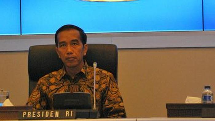 Presiden Jokowi di kantor BIN