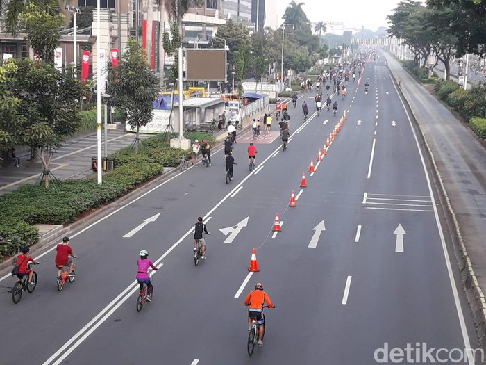 Jalur sepeda di kawasan Sudirman-Thamrin