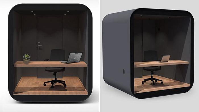Pandemi COVID-19 memaksa banyak orang untuk bekerja dari rumah (WFH). Perusahaan Norwegia, Livit pun buat ruang kantor box yang bisa dipindah bernama Studypod.