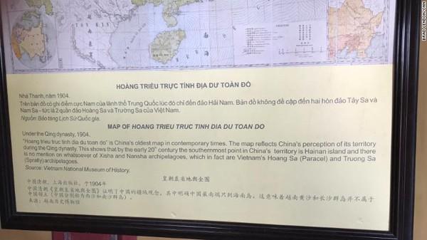 Vietnam tidak hanya berkampanye propagandanya di Museum Kepulauan Paracel saja. Di Kota Kekaisaran di Hue, terdapat peta yang disebut Vietnam sebagai peta tertua Tiongkok pada masa kontemporer.Ini menunjukkan bahwa pada awal abad ke-20, titik paling selatan wilayah China adalah pulau Hainan.