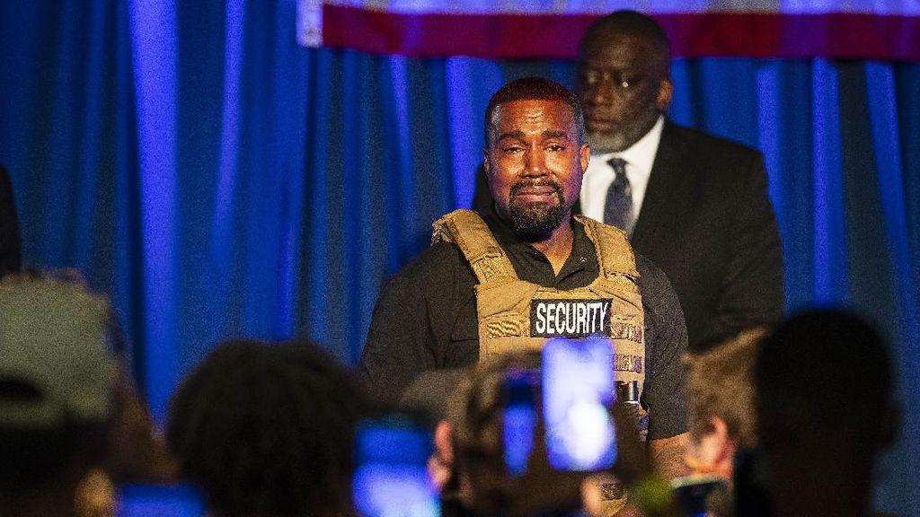 Tangis Kanye West di Kampanye Capres AS Berbuntut Panjang
