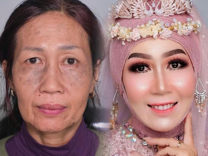 Makeup nenek jadi remaja