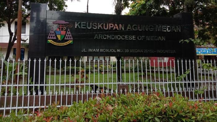 Suasana Keuskupan Agung Medan (Ahmad Arfah-detikcom)