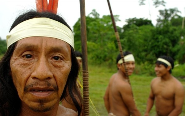 Suku Huaorani menempati wilayah di pedalaman hutan Amazon di sebelah timur Ekuador. (BBC)