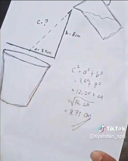 Tuang Air Pakai Rumus Matematika