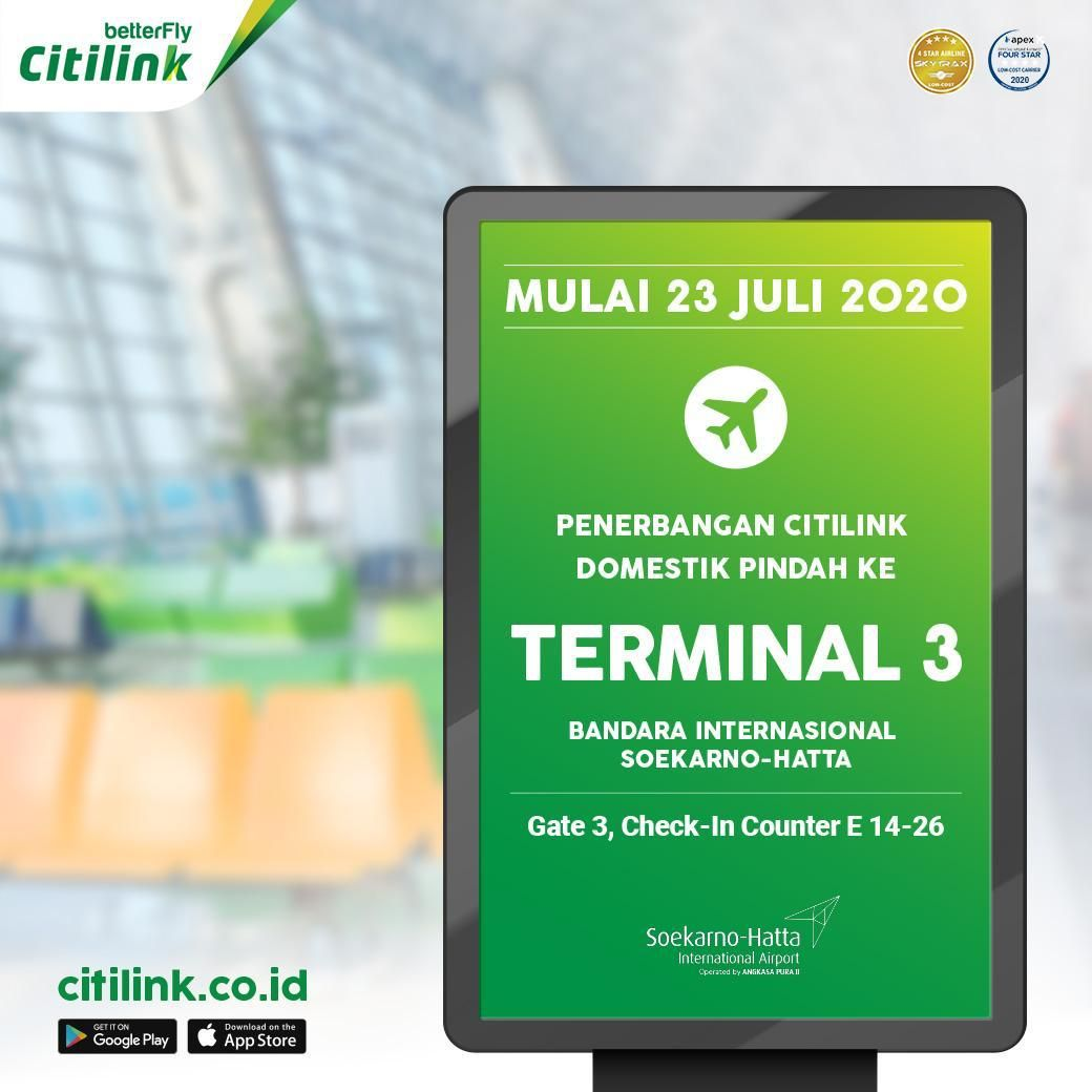 Citilink pindah ke T3 Bandara Soekarno Hatta