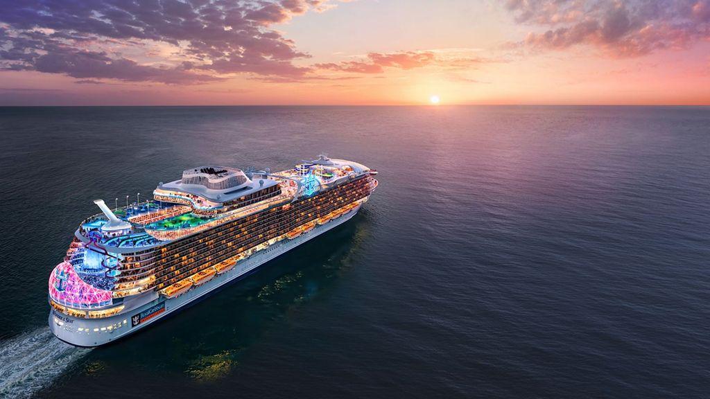 Ilustrasi kapal Wonder of The Seas yang tengah dibangun Royal Caribbean