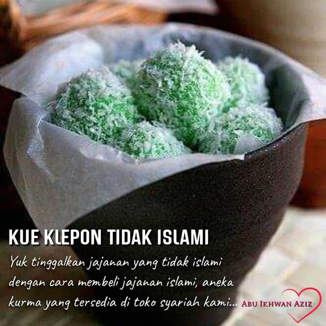 Kue Klepon disebut jajanan tak islami