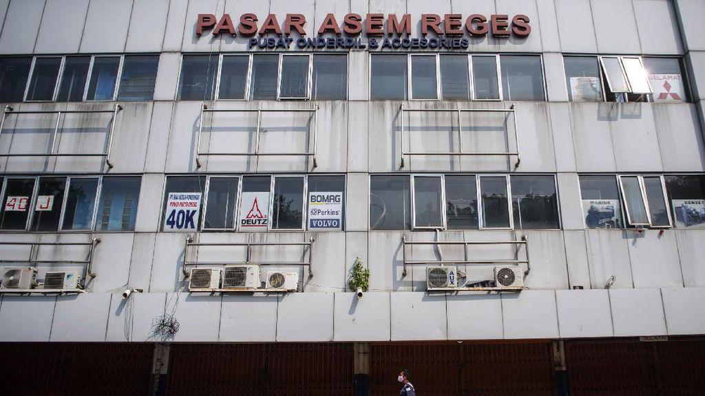 Pasar Asem Reges Jakbar Ditutup Sementara