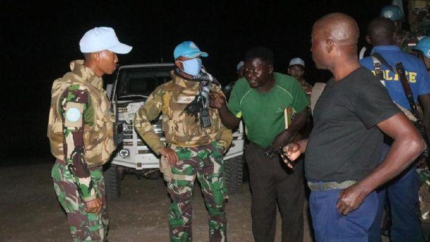 Pasukan Garuda menyelamatkan WN AS yang disandera bandit di Kongo.