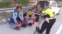 Gasak Uang Sumbangan Ponpes Rp 385 Juta, Tiga Pria Diringkus di Tol