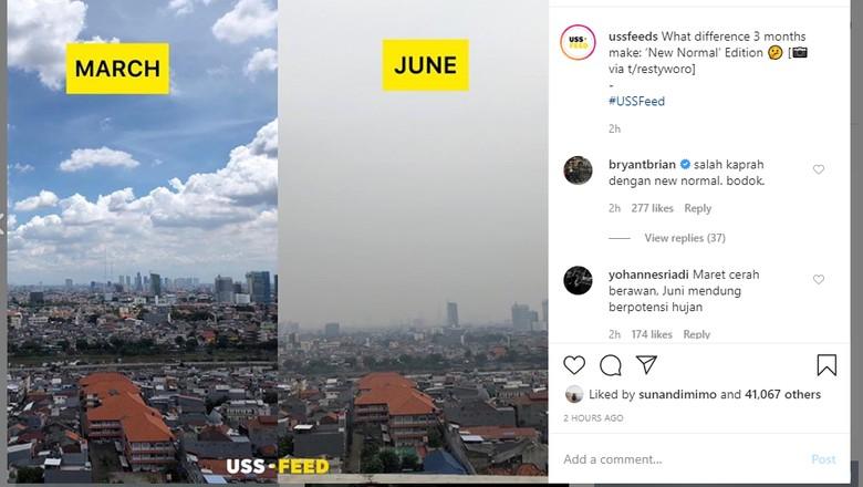 Perbedaan kualitas udara di DKI Jakarta, bulan Maret dan Juni