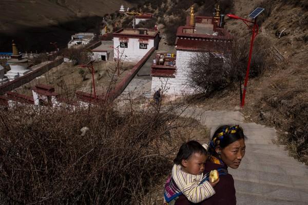Tibet juga dikenal sebagai provinsi dengan wilayah yang paling tinggi di bumi. Wang He/Getty Images