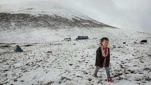 "Meski mendapat julukan ""Daratan Salju"", tetapi sebenarnya salju hanya turun satu kali dalam dua tahun. Kevin Frayer/Getty Images"