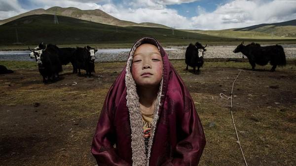 Daratan Tibet merupakan salah satu daerah yang berada di wilayah Cina. Kevin Frayer/Getty Images