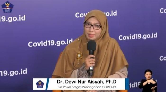 Anggpta Tim Pakar Satgas COVID-19 Dewi Nur Aisyah