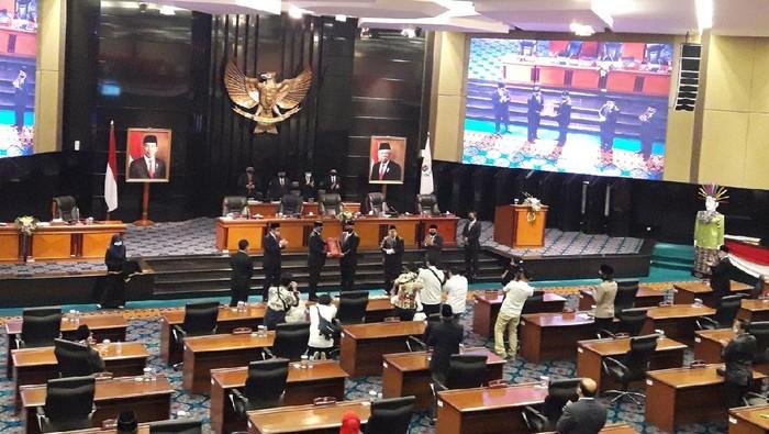DPRD DKI gelar paripurna penyampaian LPJ APBD 2019 (Foto: Ilman/detikcom)