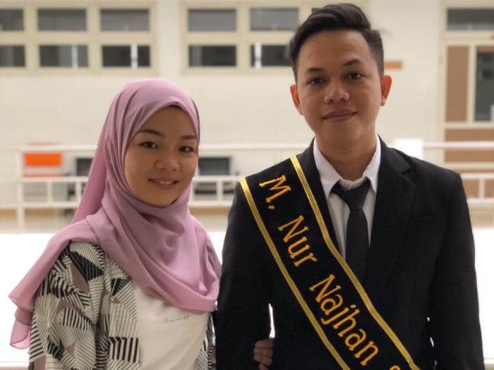 M Nur Najhan, wisudawan UIN Sunan Kalijaga yang melangsungkan pernikahan di hari wisuda, Rabu (22/7/2020).