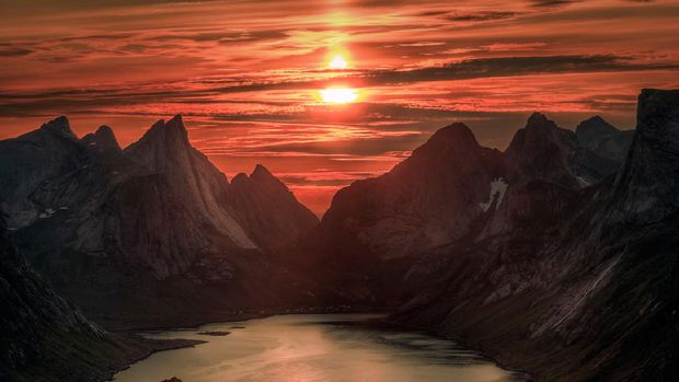 Midnight Sun di Norwegia