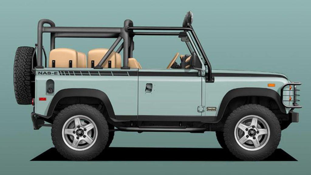 Eye Catching! Land Rover Defender Diubah Jadi Bertenaga Listrik dengan Tampilan Segar