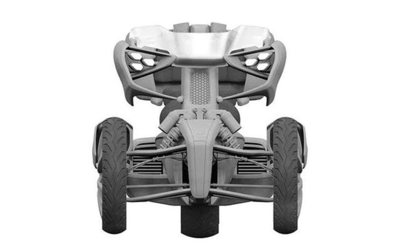 Motor Konsep Yamaha 3 roda Hybrid