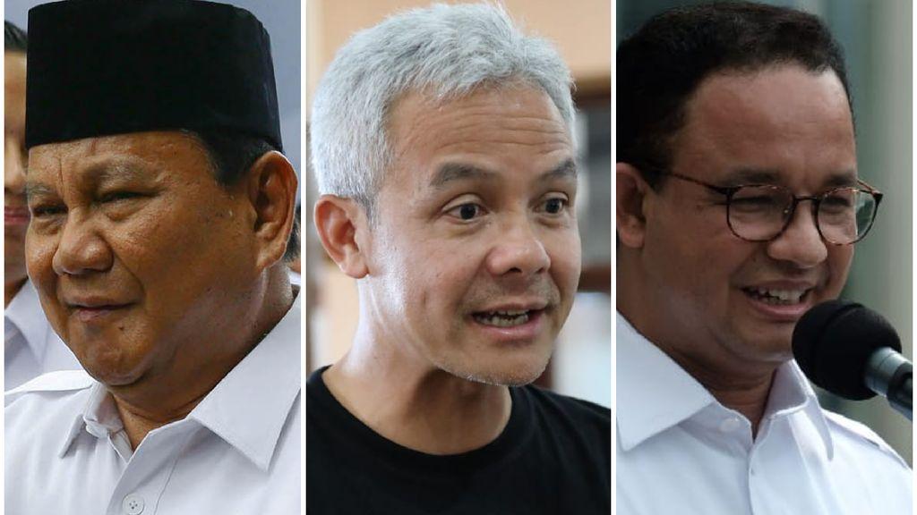 Prabowo-Anies-Ganjar Capres Favorit Versi Survei LP3ES