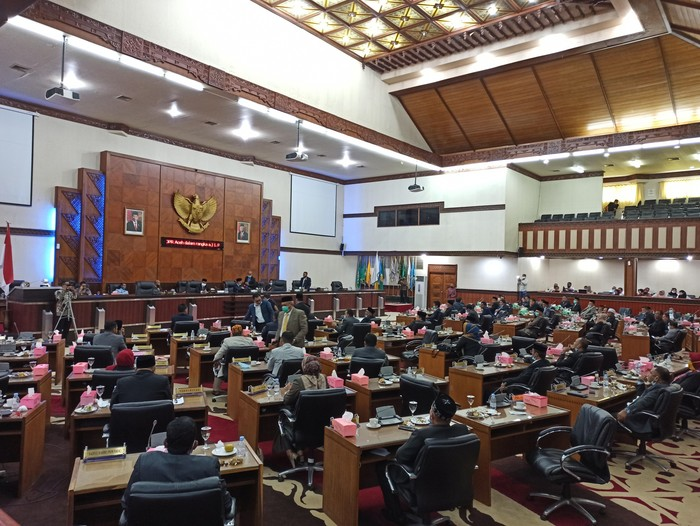 Rapat paripurna DPR Aceh (Agus Setyadi-detikcom)