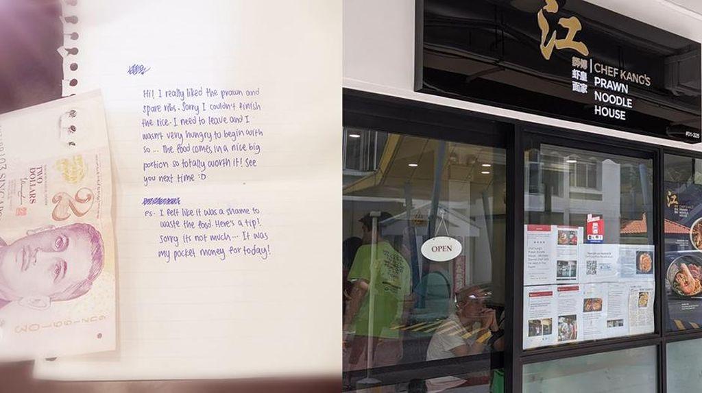 Tak Habiskan Pesanannya, Pelajar Ini Tulis Surat Menyentuh untuk Restoran