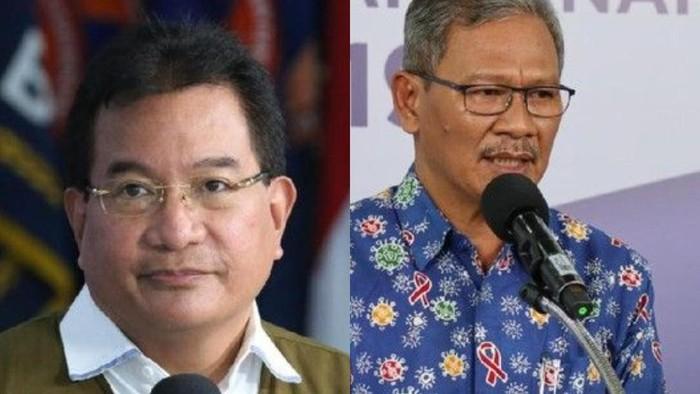 Wiku Adisasmito dan Achmad Yurianto (dok BNPB, kolase foto)