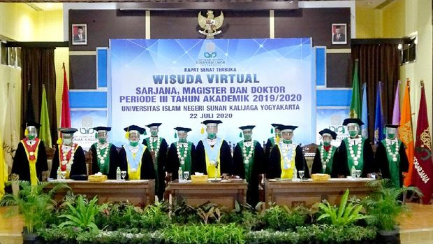 Wisuda virtual UIN Sunan Kalijaga Yogyakarta, Rabu (22/7/2020).