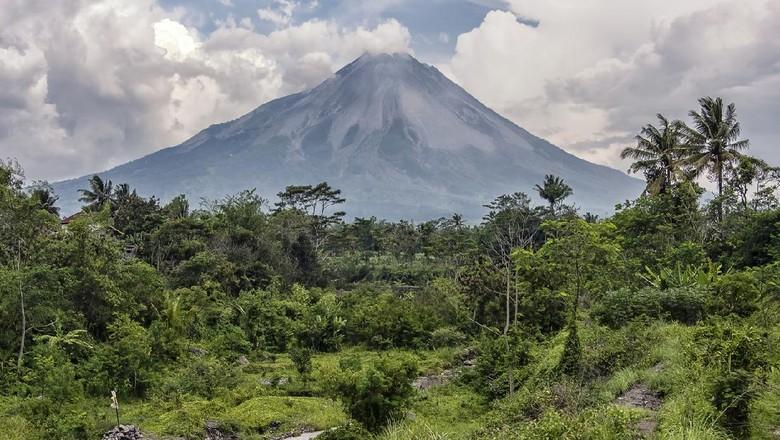 Merapi volcano in Central Java, Indonesia