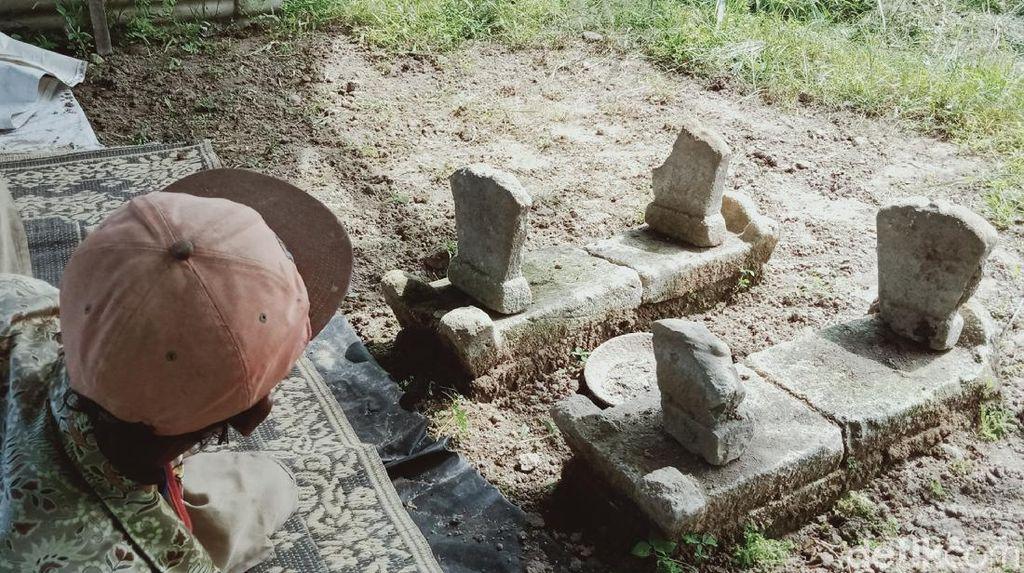 Ada 2 Nisan Batu Kuno Misterius di Tengah Sawah Klaten, Makam Siapa?