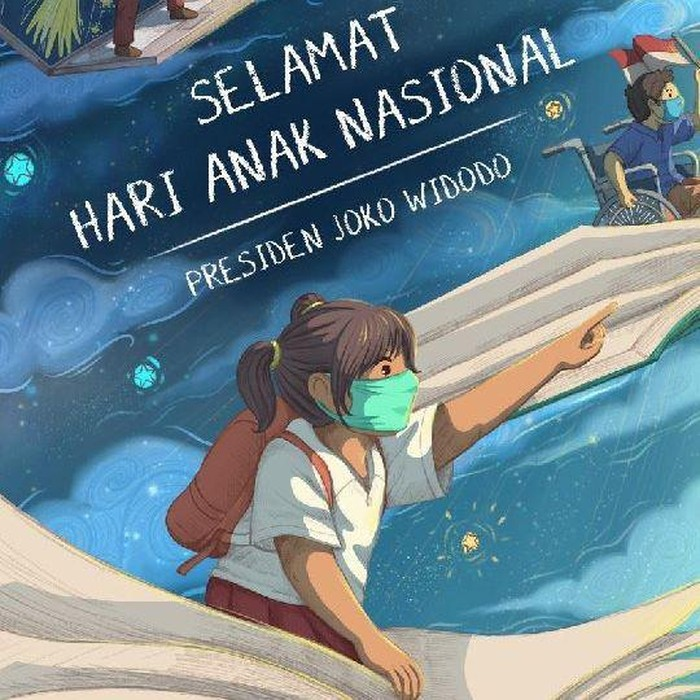 Ilustrasi Hari Anak Nasional 2020 di Instagram Jokowi