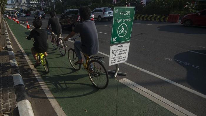Operasi Patuh Jaya 2020 tak hanya berlaku bagi kendaraan bermotor. Para pesepeda yang melanggar aturan lalu lintas juga akan ditindak di operasi ini.