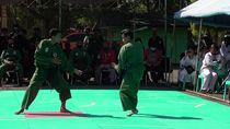Puluhan Pendekar di Polewali Mandar Bertarung di Halaman Makodim 1402/Polmas