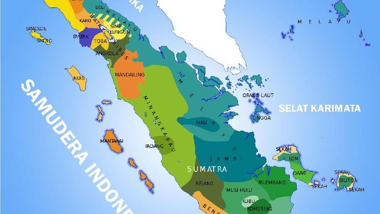 Kondisi Geografis Pulau Sumatera Berdasarkan Peta Lengkap Letak Astronomisnya