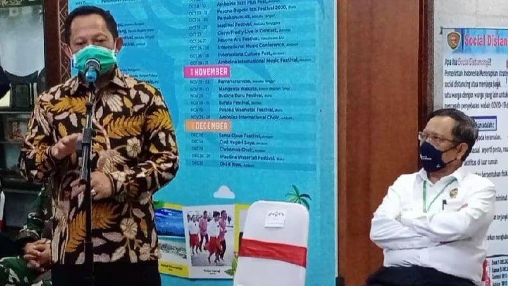 Bertemu Gubernur Maluku, Menko Polhukam dan Mendagri Bahas Corona-Pilkada