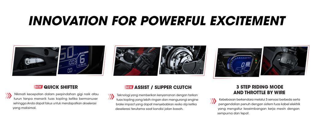 Fitur baru Honda CBR250RR SP Quick Shifter