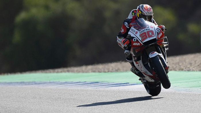 JEREZ DE LA FRONTERA, SPAIN - JULY 18:  Takaaki Nakagami of Japan and LCR Honda Idemitsu 