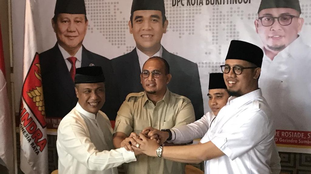 Gerindra-PKS Koalisi Dukung Erman Safar-Marfendi di Pilkada Bukittinggi