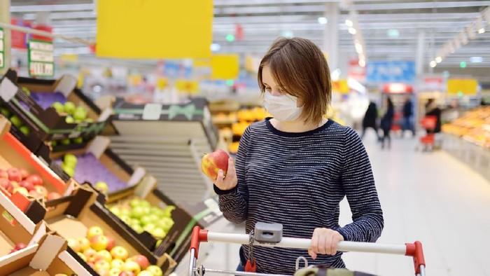 Ilustrasi belanja di supermarket
