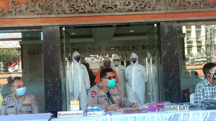 Polda Bali menangkap buronan interpol kasus penipuan investasi Amerika di Bali