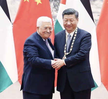 Presiden China Xi Jinping dan Presiden Palestina Abbas (Dok. China Mission to UN)