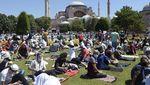 Begini Suasana Jelang Salat Jumat Perdana di Hagia Sophia