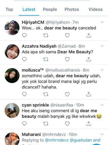 Brand kosmetik lokal Dear Me Beauty diancam diboikot.