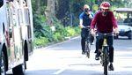 Hasil Swab Negatif, Jokowi Gowes Sepeda di Istana Bogor